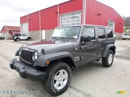 2016 black jeep wrangler unlimited 2016 jeep wrangler unlimited sport 4x4 in granite crystal metallic