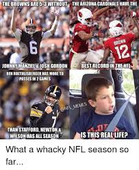 Johnny Manziel Memes - the brownsare 5 3 without the arizona cardinals have the brown