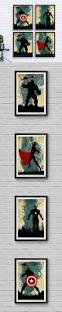 home decor wall posters avengers poster set vintage poster marvel movie print minimalist