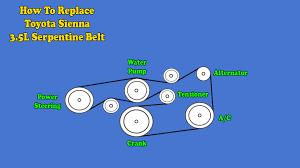 toyota sienna serpentine belt replacement 3 5l engine 2007 2010