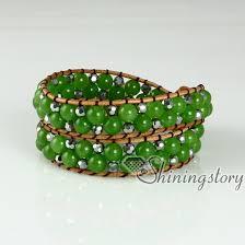 beaded wrap bracelet images Semi precious stone beaded wrap bracelets semi precious stone jade jpg