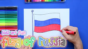 how to draw and color the national flag of russia youtube