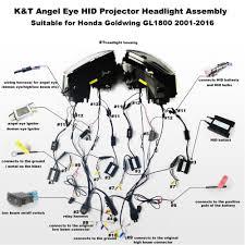 aliexpress com buy kt headlight for honda goldwing gl1800 2001