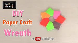 easy making of diy paper craft wreath origami diy colorful paper
