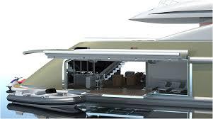 isa yachts superyacht design rendering side garage luxury isa yachts superyacht design rendering side garage