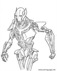 star wars grievous coloring pages printable