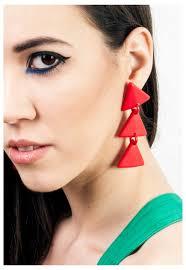 90 s earrings triangle earrings 90s retro geometric plastic earrings pop