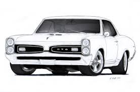 cars drawings 1967 pontiac gto drawing by vertualissimo deviantart com on
