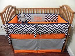 Chevron Boy Crib Bedding Custom Baby Bedding Set Boy Crib Bedding Navy Chevron With