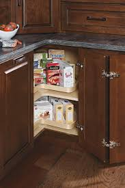 lazy susan cabinet with pullout schrock cabinetry