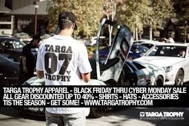 black friday car accessories targa trophy apparel u2013 black friday thru cyber monday sale is on