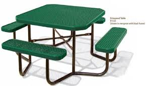 Picnic Table Frame Plastisol Coated Steel Pvc Rectangular Picnic Tables