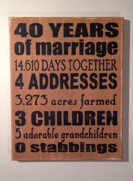 40 year anniversary gift wedding ideas stunning weddingniversary gift ideas for my