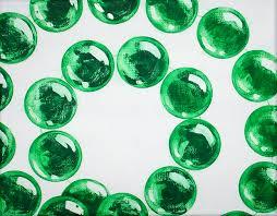 green mardi gras lynch mardi gras bead paintings realistic green
