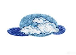 and clouds embroidery design