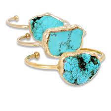 turquoise stone bracelet images Turquoise cuff bracelet turquoise december birthstone gold cuff jpg