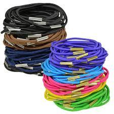 bulk basic solutions solid color hair elastics 100 ct packs at