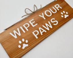 Please Wipe Your Paws Coir Wipe Your Feet Etsy