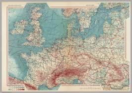 Europe World Map by Western Europe Pergamon World Atlas David Rumsey Historical