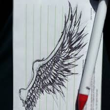 quick sketch angel wing pixel r3ap3r
