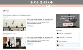 home decor blogs wordpress home decor wordpress theme template for interior design businesses