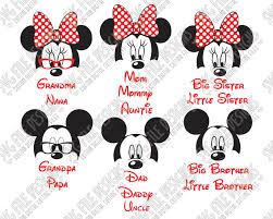 mickey minnie mouse family svg cut file disney vacations