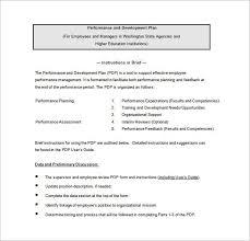 employee development plan template free employee development plan
