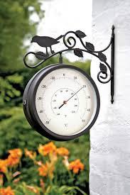 Garden Wall Clocks by Birds Of Britain Swivel Garden Clock Thermometer 4372