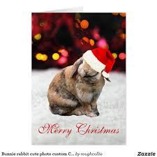 bunnie rabbit cute photo custom christmas card photos custom
