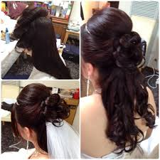 wedding hairstyles for long hair half up with veil and