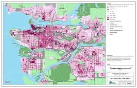 Population Map 2011 Census Population Density At Three Scales In Vancouver