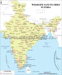 India Political Map Sanctuaries Map Enlarged View