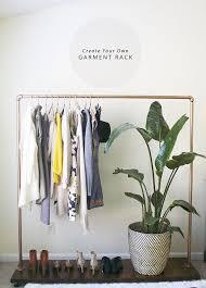 diy garment clothing rack in honor of design