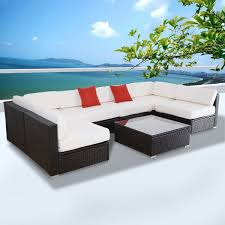 Outdoor Patio Sectional Furniture Sets - gym equipment outdoor furniture set patio pe wicker rattan sofa