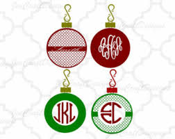 ornament monogram etsy