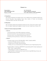 Resume Samples Computer Science by 100 Computer Science Intern Resume Resume Samples For It
