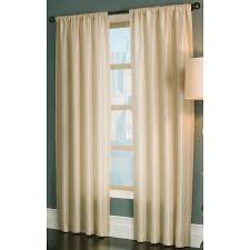 Single Window Curtain by Shop Allen Roth Florence 63 In Cream Polyester Rod Pocket Light