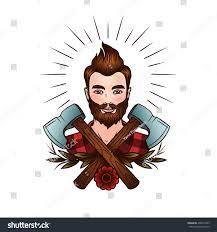vector face guy hipster style logo stock vector 492614359