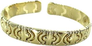 gold bangle bracelet design images Gold 14kt solid yellow bangle made in italy italian open design jpg