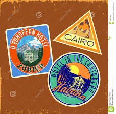 Iowa travel stickers images Retro suitcase sticker stickers stock illustration image 34051365 jpg