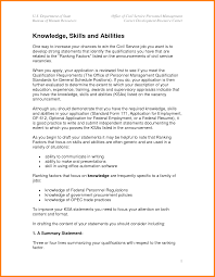 knowledge skills and abilities example ksa resume examples sample