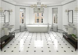 white tile bathroom black and white hexagon bathroom tile hexagon
