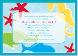 under the sea party invitations glee prints
