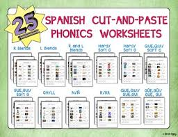 tons of spanish phonics worksheets targeting a variety of blends