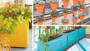 Flower Pot Arrangements For The Patio Creative Planters Containers And Window Boxes
