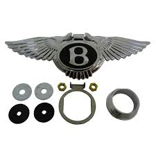 bentley logo black winged bentley boot lock cover kit ub72180k badges u0026 mascots