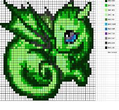 sleepy dragon dragon pixel art hama stitch pinterest