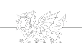 welsh dragon colouring funycoloring