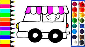 ice cream van coloring pages art colors for kids draw popsicle