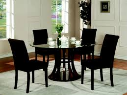 Table Round Glass Dining With Wooden Base Breakfast Nook by Living Room Mesmerizing Black Dining Room Sets Dr Rm Ellwood 5